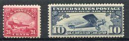 1923/27. U.S.A. AIR POST - RARE STAMP- 2 VAL. -  M.N.H.-LUXE !! - Air Mail