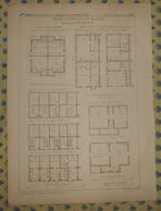 Plan De Maisons Ouvrières De Küchen. Wurtemberg. 1869 - Travaux Publics