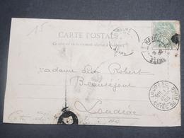 FRANCE - Type Blanc Perforé Sur Carte Postale De Costumes  Normands En 1903 - L 15075 - Perforés