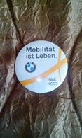 RARE BMW HUGE SIZE 5CM. BADGE PIN 1993 IAA MOBILITAT IST LEBEN COLLECTABLE - BMW