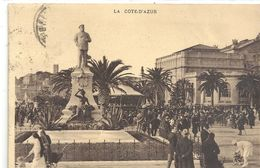2775. CANNES . LA STATUE D'EDOUARD VII ET CASINO MUNICIPAL . AFFR LE 21-2-1932 AU VERSO . 2 SCANES - Cannes