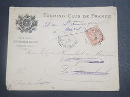 FRANCE - Type Mouchon Perforé Sur Enveloppe Du Touring Club De France En 1903 - L 15076 - Perforés