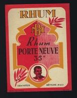 """étiquette Rhum   """"MD"""" Rhum Porte Neuve DewinterBethune """"médaillon Visage Homme"""" - Rhum"""