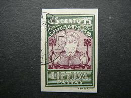 Lietuva Litauen Lituanie Litouwen Lithuania 1933 Lithuanian Child Used # Mi. 366 B - Lithuania