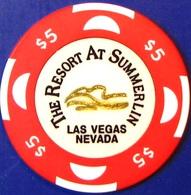 $5 Casino Chip. Resort At Summerlin, Las Vegas, NV. M33. - Casino