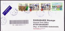 ITALY ITALIA REGISTERED COVER POSTED TO ARTSAKH NAGORNO KARABAKH ARMENIA - Poste Aérienne