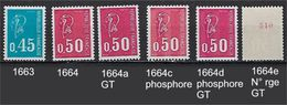 "FR YT 1663 1664 1664 A C D E  "" Etude Marianne Becquet "" 1971 Neuf** - France"