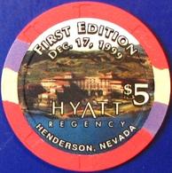 $5 Casino Chip. Hyatt Regency, Henderson, NV. M33. - Casino
