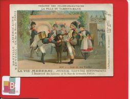 Théâtre Des Folies Dramatique La Fille Du Tambour-major Vie Moderne Journal Illustré Paris Bretelles Américaines Kendall - Chromos