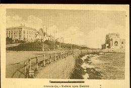 Postcard, Romania, Constanta, View To Casino, Used 1919 - Casinos