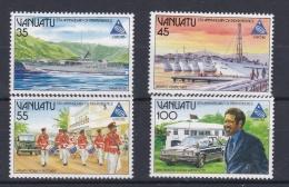 VANUATU  :  Série 718 à 721 Neuf XX  Anniversaire De L'Indépendance - Vanuatu (1980-...)