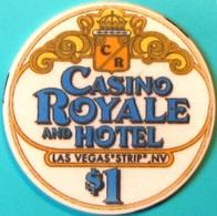 $1 Casino Chip. Casino Royale, Las Vegas, NV. M34. - Casino