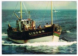 CPA 29 - Finistère - Bateau De Pêche En Mer 1977 - Penmarch