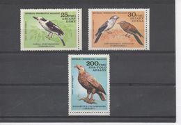 MADAGASCAR - Faune - Oiseaux :  Vanga écorcheur, Courol Vouroudriou, Pygargue De Madagascar - - Madagascar (1960-...)