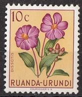 Ruanda Urundi 1953 Sc. 114 Fiori Flowers  Dissotis Nuovo MNH - Ruanda