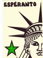 CPSM ESPERANTO Statue De La Liberté Liberty Tirage Limité Illustrateur LARDIE - Esperanto