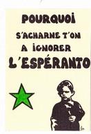 CPSM ESPERANTO Tirage Limité Illustrateur LARDIE - Esperanto