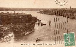 CPA NANTES - VUE GENERALE DU PORT VERS L'OUEST - Nantes