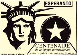 CPSM Centenaire De La Langue ESPERANTO Statue De La Liberté Liberty Tirage Limité Illustrateur LARDIE - Esperanto