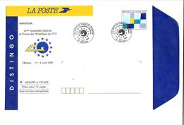 DISTINGO REPIQUE ASSEMBLEE GENERALE UP PTT OBERNAI 1993 - Entiers Postaux
