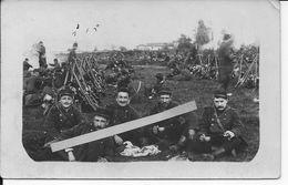 Soldats Français Du 38ème R.I Au Bivouac Recrutement Et Dépôt Saint-etienne 1 Carte Photo Ww1 1914-1918 - War, Military