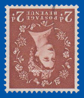 GREAT BRITAIN 1961 Q.E. II  2d. F.U. WMK. INVERTED MULTIPLE CROWNS GOOD PERFORATIONS  S.G. 573Wi CAT. VALUE £70 - Gebraucht