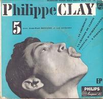 45 TOURS PHILIPPE CLAY PHILIPS 432139 LE CHEMINEAU / LA CHANSON DE CLOPIN + 2 - Vinyl Records