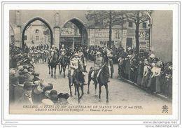 45 ORLEANS LES FETE DU 500 E ANNIVERSAIRE DE JEANNE D ARC  GRAND CORTEGE HISTORIQUE LE TREBUCHET CPA BON ETAT - Orleans