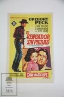 Original 1958 The Bravados Cinema / Movie Advt Brochure -  Leon Shamroy - Gregory Peck, Joan Collins, Henry Silva - Werbetrailer