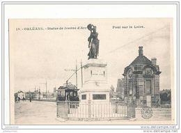 45 ORLEANS STATUE DE JEANNE D ARC PONT SUR LA LOIRE CPA BON ETAT - Orleans