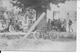 Avignon Soldat Français Du 58ème R.I Cyclistes Manoeuvres D'été Couvre Képi Couvre Nuque 1 Carte Photo Ww1 1914-1918 - Krieg, Militär