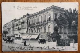 PRINCIPATO DI MONACO NICE PROMENADE DES ANGLAIS CERCLE DE LA MEDITERRANEE CON CARROZZE  1912 - Postzegels