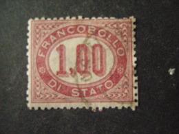 REGNO -1875,  Sass. N. 5, SERVIZIO, Lire 1 Lacca, Usato, OCCASIONE - Servizi