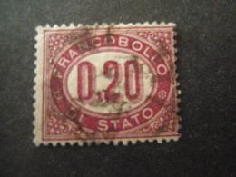 REGNO -1875,  Sass. N. 3, SERVIZIO, Cent. 0.20 Lacca, Usato, OCCASIONE - 1861-78 Vittorio Emanuele II