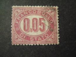 REGNO -1875,  Sass. N. 2, SERVIZIO, Cent. 0.05 Lacca, Usato, OCCASIONE - Servizi