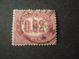 REGNO -1875,  Sass. N. 1, SERVIZIO, Cent. 0.02 Lacca, Usato, OCCASIONE - Servizi