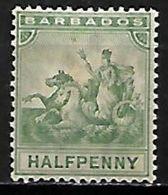 BARBADE    -   1892 .  Y&T N° 50 * . - Barbados (...-1966)