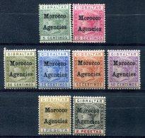 Maroc  Bureaux Anglais     1/2    Neufs Sans Gomme - 3/8  * - Postämter In Marokko/Tanger (...-1958)