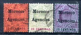 Maroc  Bureaux Anglais    10/12   Oblitérés - Oficinas En  Marruecos / Tanger : (...-1958