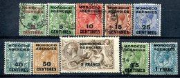 Maroc  Bureaux Anglais    Entre Le 1 Et Le 10 Oblitérés   Zone Française - Postämter In Marokko/Tanger (...-1958)