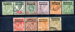 Maroc  Bureaux Anglais    Entre Le 1 Et Le 16  Charnières Et Oblitérés    Tous Les Bureaux - Morocco Agencies / Tangier (...-1958)