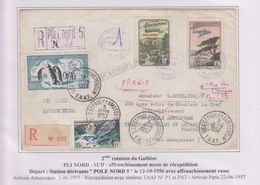 TAAF - Arctique - Antarctique - Pole Nord 5 Station Dérivante - Saint Paul  Amsterdam - Mixte - - French Southern And Antarctic Territories (TAAF)