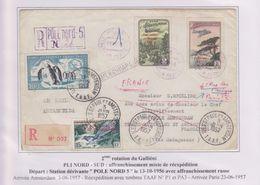 TAAF - Arctique - Antarctique - Pole Nord 5 Station Dérivante - Saint Paul  Amsterdam - Mixte - - Lettres & Documents