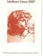 MEILLEURS VOEUX 2007 PHIL@POSTE MOZART ENFANT SANGUINE DE GREUZE - Documents De La Poste