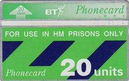 BT   Phonecard- HM Prisons 20unit (White Band) - Superb Fine Used Condition - Ver. Königreich