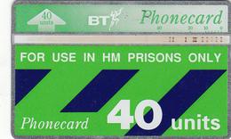 BT  Phonecard - HM Prisons 40unit (White Band) - Superb Fine Used Condition - Ver. Königreich