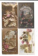 10654 - Lot De 100 CPA Fantaisie, Paysages, Fleurs, - Postcards