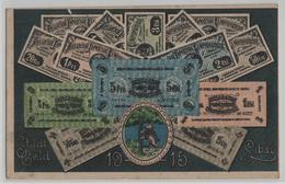 Stadt Libau Banknoten Stadtgeld 1915 - Banks