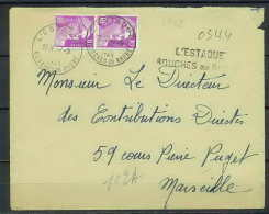 Lettre-1388 Bouches Du Rhone N°811 Gandon Recommandé Provisoire L'Estaque Pour Marseille 1948 - Storia Postale