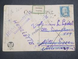 FRANCE - Carte Postale Pour L 'Allemagne Et Retour , étiquette Inconnu En 1926 - L 15086 - 1921-1960: Période Moderne